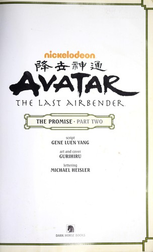 Avatar The Last Airbender: The Promise, Part 2